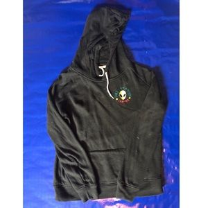 Cool Black Alien Hoodie Take Me To Your Leader